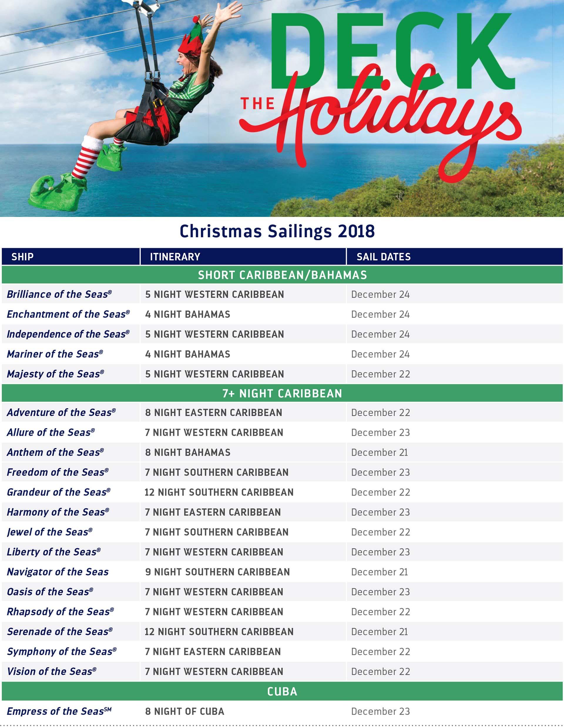 Christmas Sailings 2018   Soul at Sea